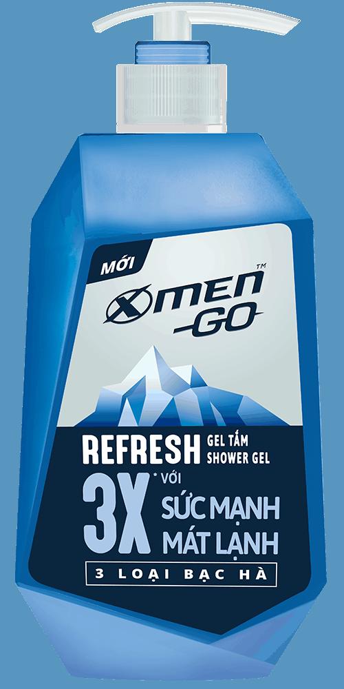 Gel tắm X-Men Go Refresh