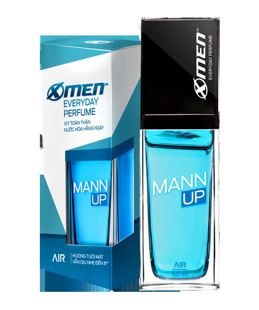 """Mann Up <span style=""""color:#00b1e2"""">Air</span>"""